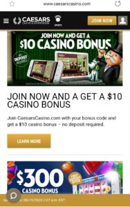 Caesars Mobile Casino NJ
