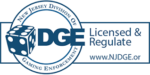 Safe and legal online casinos in NJ: DGE logo