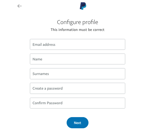 PayPal casinos signup step 5