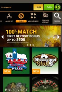 Pala Mobile Casino Table Games