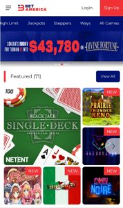 BetAmerica Mobile Casino
