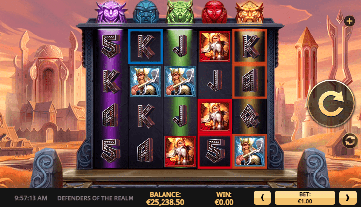 defenders of the realm slot game