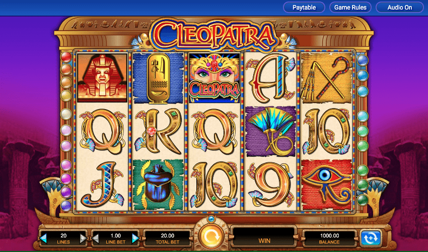 Play Cleopatra Online Slot at IGT online casinos