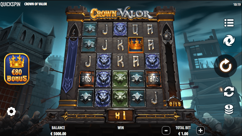Crown of Valour Slot from Quickspin.