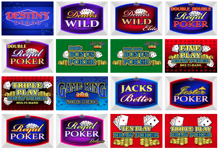 Play video poker at top US casinos like BetRivers.