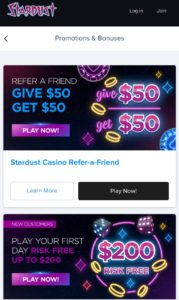 Stardust Casino Promotions