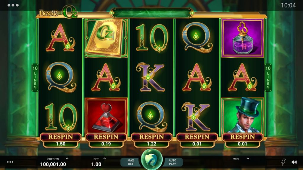 Book of Oz Respins Feature Slot