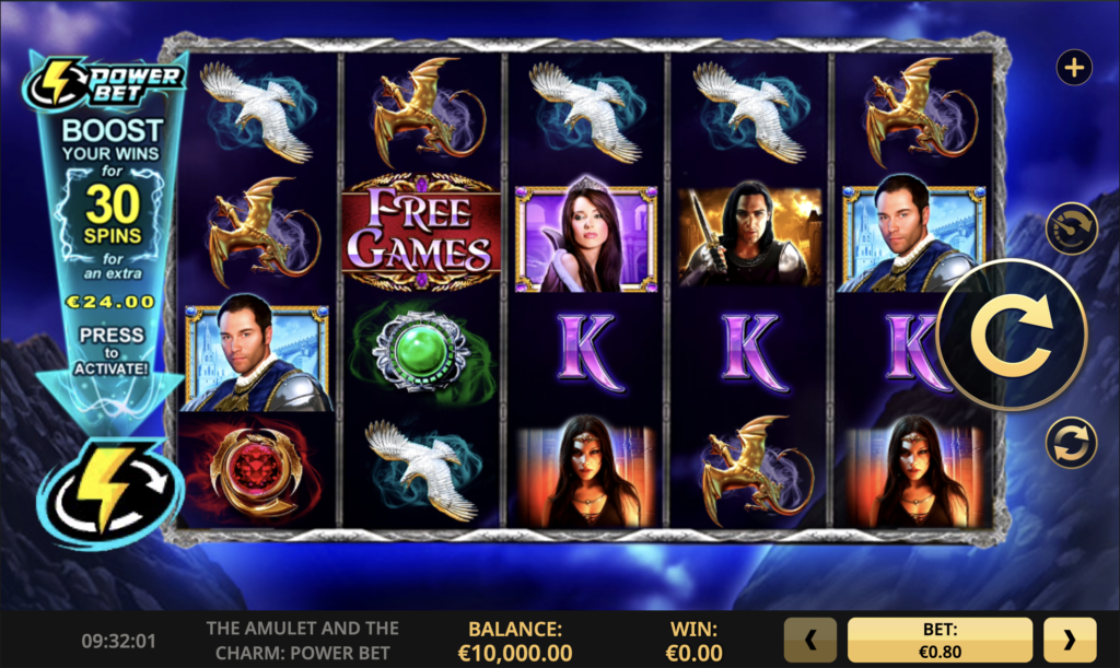 The Amulet and the Charm Power Bet Slot